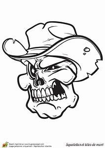 Tete De Mort Mexicaine Dessin : t te de mort avec un chapeau de cowboy colorier ~ Melissatoandfro.com Idées de Décoration