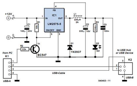usb power booster circuits basiccircuit circuit
