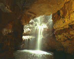 Inside Cave Waterfalls