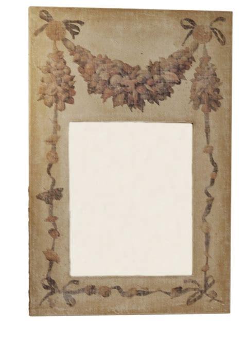 miroir a l ancienne trumeau coquillages toile beige motif coquillages miroir 224 l ancienne provence et fils