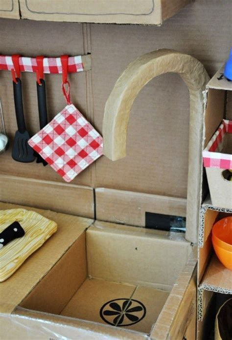 DIY Cardboard Play Kitchen   Craft projects for every fan!