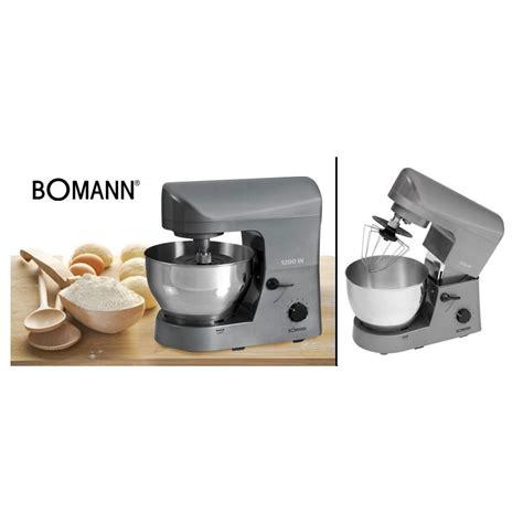 cuisine bomann pétrin multifonctions 1200w silencieux bomann km370cb