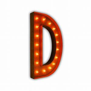 rusty 36 inch letter d marquee light by vintage marquee lights With 36 inch marquee letters