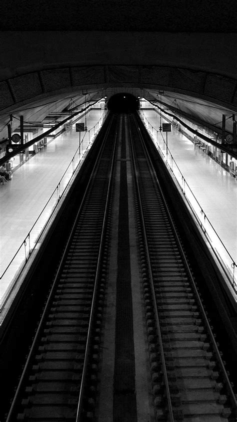 Wallpaper Black And White by Madrid Subway Black And White Top View Android Wallpaper