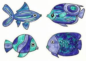 Deko Fische Zum Aufhängen : fensterschmuck 4 blaue fische badezimmer deko window ~ Lizthompson.info Haus und Dekorationen