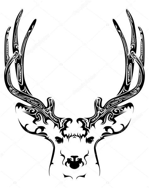 Tete De Cerf Tatouage T 234 Te De Cerf Abstraite Tatouage Tribal Image Vectorielle Lindwa 169 54605775
