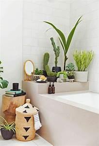 Decoration De Salle De Bain : id e d coration salle de bain d corer son appartement salle de bain carrelage blanc plantes ~ Teatrodelosmanantiales.com Idées de Décoration