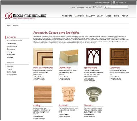 decore ative specialties launches new website