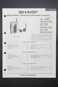 Sharp Jc 136  135 Original Service Manual  Instruction