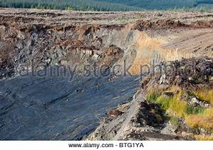 An open cast or drift coal mine in the Hunter Valley, New ...