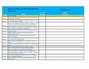 it service desk software rfp template With it service catalogue template