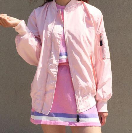 baby girl kawaii pink  baby pink bomber jacket