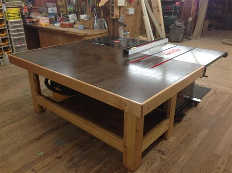 Torsion Box Outfeed  Assembly Table  By Mharper90