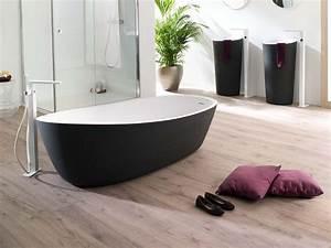 Sol Bois Salle De Bain : bois ou carrelage pour le sol de la salle de bain viving ~ Premium-room.com Idées de Décoration