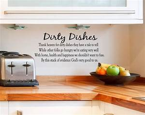 Interior design beautiful kitchen with wall quotes