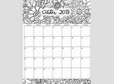 October 2018 Calendar Printable Word Desktop Template