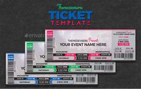 concert ticket templates  psd  photoshop