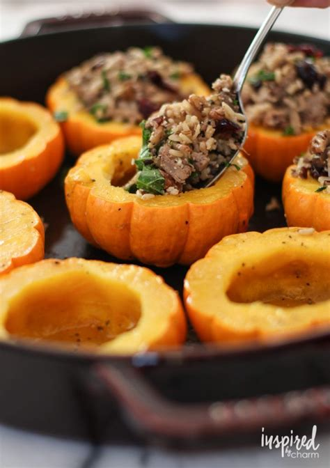 Sausage Rice And Cranberry Mini Stuffed Pumpkins