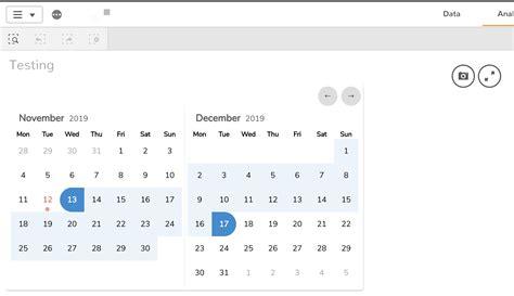 qlik sense date picker calendar  planning