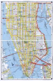 Detailed Map of Manhattan New York