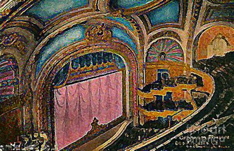 the orpheum theatre stage and proscenium in los angeles ca