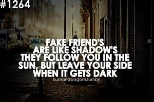 Real And Fake F... Phony Friend Quotes