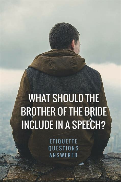 brother of speech wedding planning tips pinterest brides the and speech