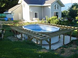 Eclairage Piscine Hors Sol : photo piscine hors sol avec terrasse bois cool ext rieur ~ Dailycaller-alerts.com Idées de Décoration