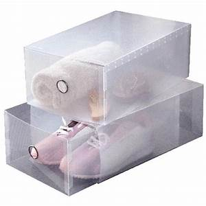 Boite De Rangement Chaussure : set de 2 boites tiroirs transparentes pour chaussures ~ Dailycaller-alerts.com Idées de Décoration