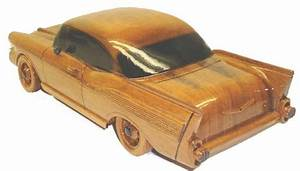 57 Chevy wood wooden desktop model car
