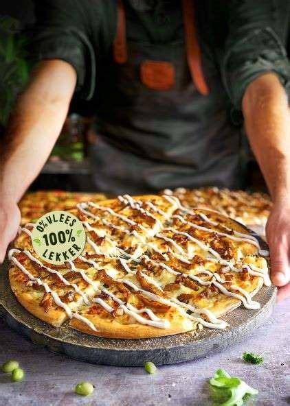 drie nieuwe vegetarische pizzas bij dominos