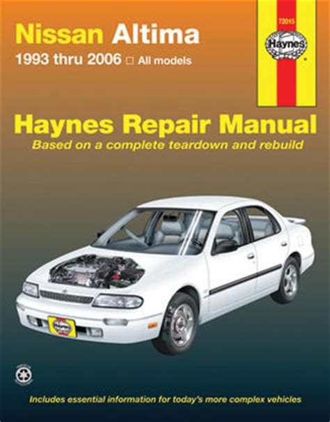 chilton car manuals free download 2007 nissan altima parking system nissan altima haynes repair manual 1993 2006 hay72015