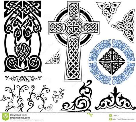 Celtic Patterns stock vector. Illustration of celtic ...