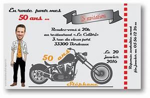 Cadeau Pour Un Motard : invitation anniversaire homme moto invitation anniversaire homme color e invitation ~ Melissatoandfro.com Idées de Décoration