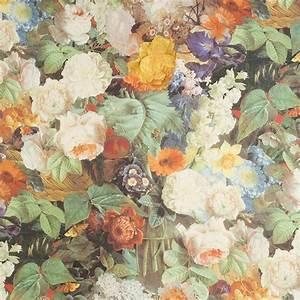 Papier Peint Fleuri Vintage : o trouver les grosses fleurs tissus tapisseries et papiers peints pinterest papier ~ Melissatoandfro.com Idées de Décoration