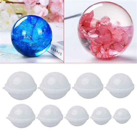 silicone mold diy stereo spherical jewelry making diy