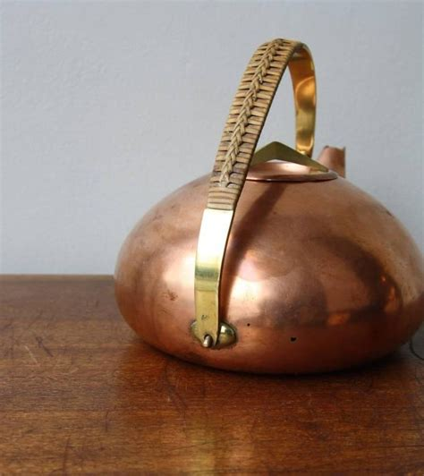 carl auboeck copper  brass teapot  stdibs
