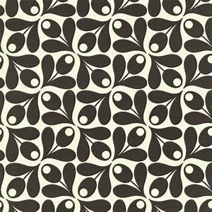 Papier Peint Rayé Noir Et Blanc : papier peint noir et blanc small acorn spot de orla kiely ~ Dailycaller-alerts.com Idées de Décoration
