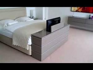 Lit Avec Tv Escamotable : exodio montpellier tv lift meuble youtube ~ Nature-et-papiers.com Idées de Décoration