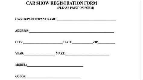 Sample Car Registration Forms
