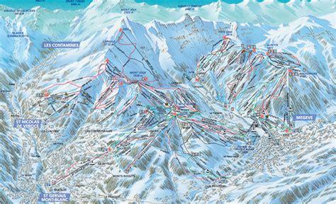 st gervais mont blanc gervais mont blanc plans des pistes domaine skiable sur gervais mont blanc