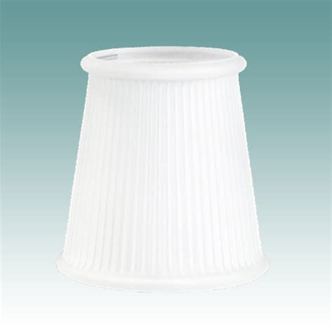 1201 frosted glass rib clip on shade glass lshades