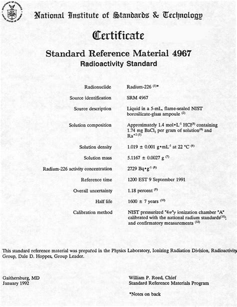Modern NIST Certificate   NIST