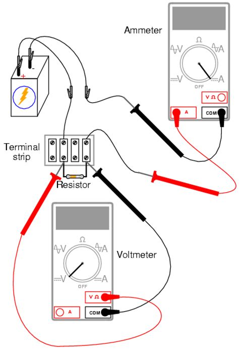 Circuit Diagram Ammeter And Voltmeter
