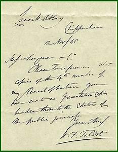 Talbots correspondencemanuscript letter for Manuscript letters