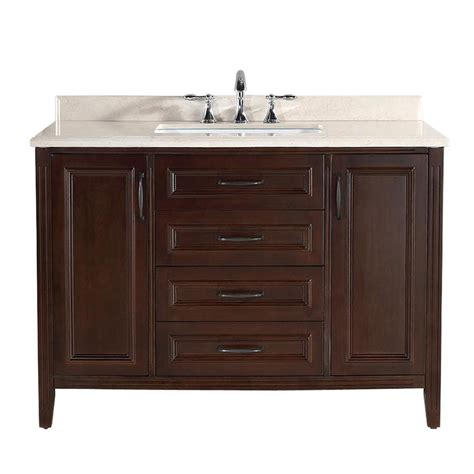 48 vanity with top and sink shop ove decors daniel cocoa undermount single sink