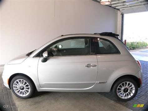 2012 Fiat 500c Lounge by Argento Silver 2012 Fiat 500 C Cabrio Lounge Exterior