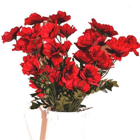 cm artificial red poppy flower arrangement