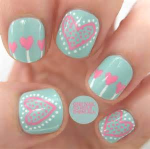 Heart nail art designs picture