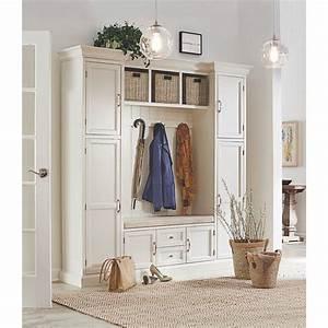 Home Decorators Collection Royce Polar White Hall Tree
